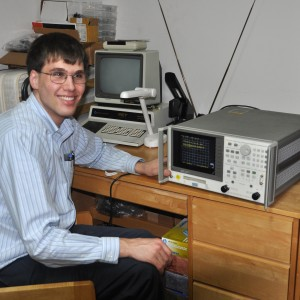 Me with Network Analyzer and Commodore PET